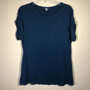 J. Jill | Blue Stretch Snitched Back Top
